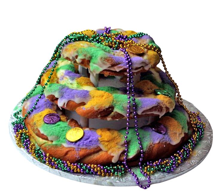 Three tier wedding king cake by Haydel's Bakery
