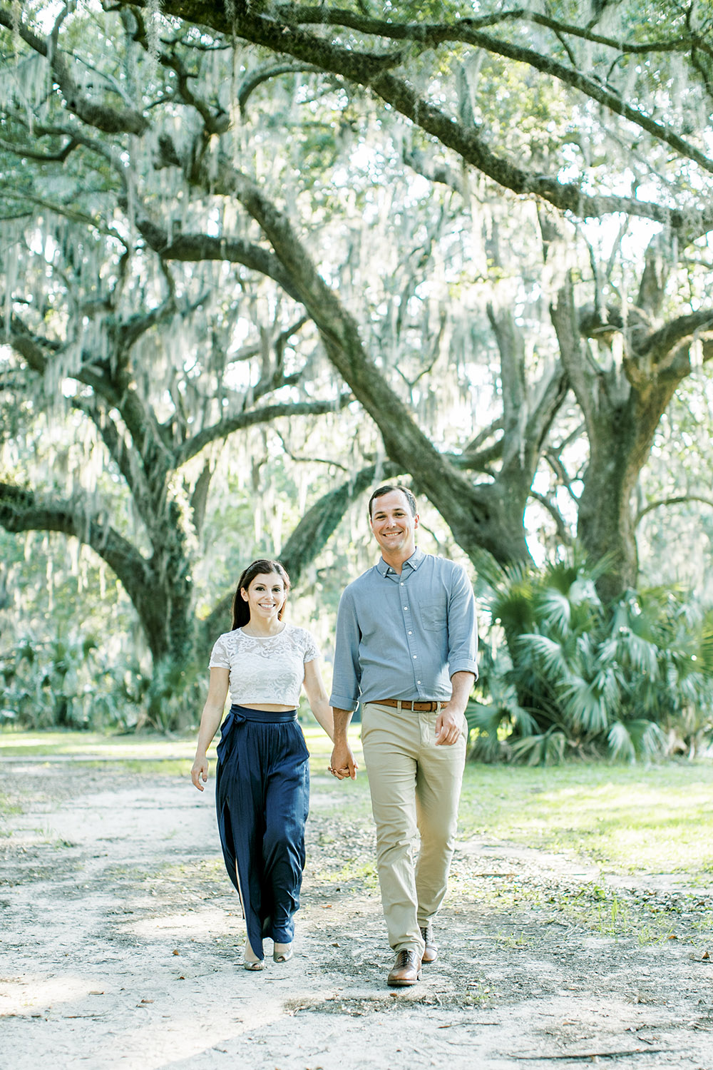 Engagement photo in New Orleans City Park