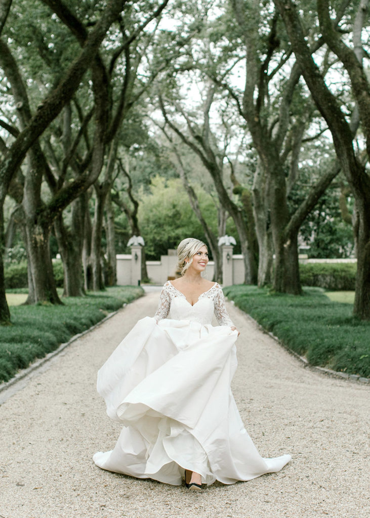 Bridal portrait at Longvue House and Gardens