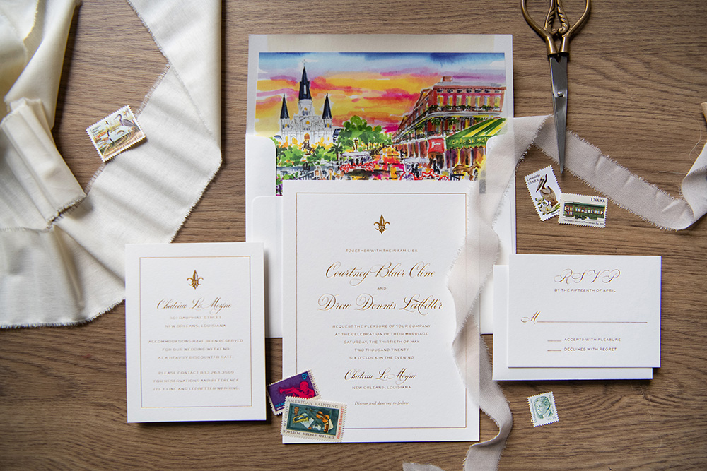 The wedding invitation suite