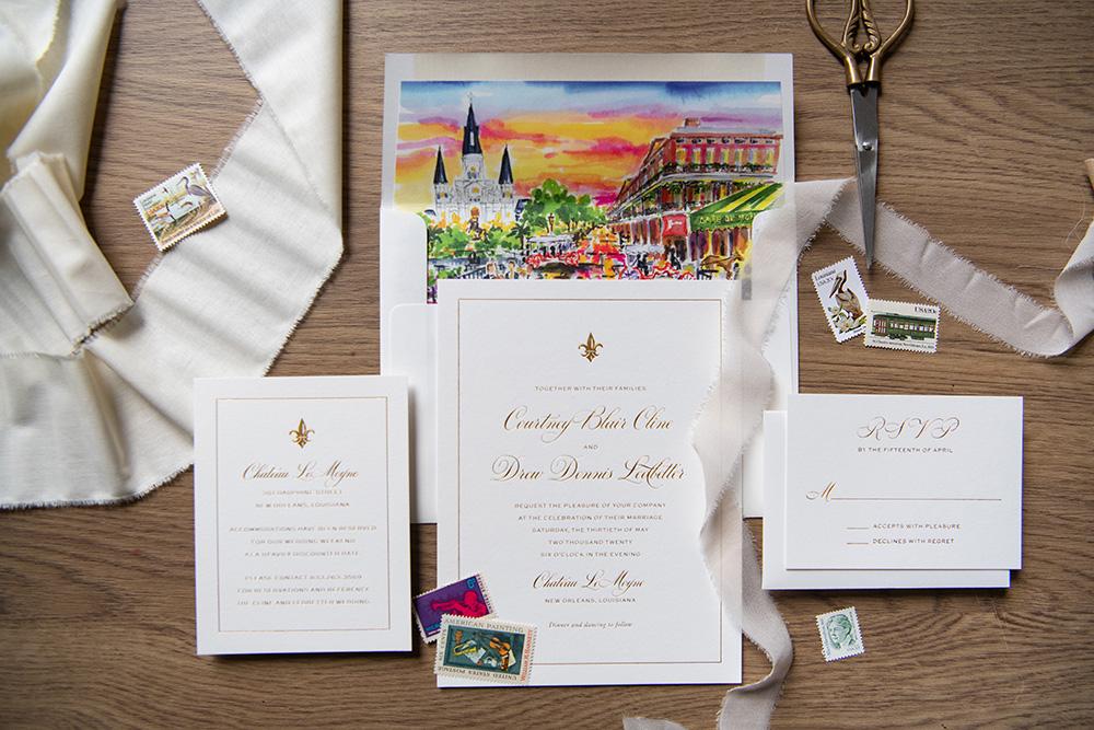 The wedding invitation suite