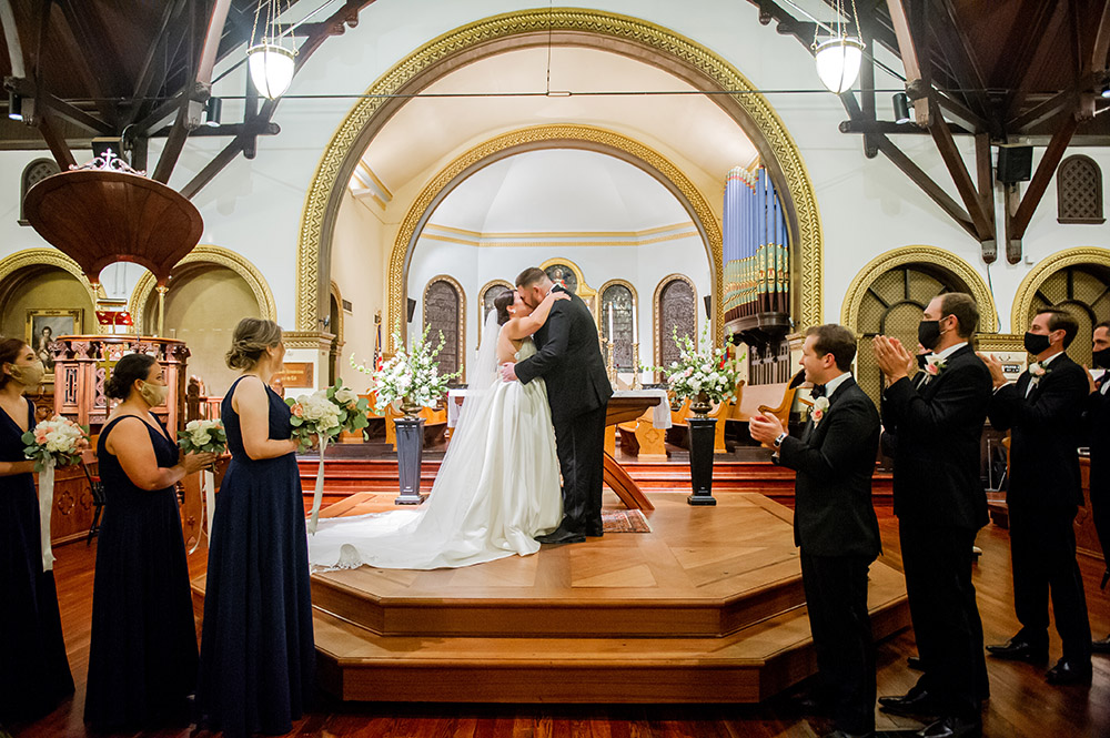 Taylor and Charles' wedding ceremony at St. George Episcopal Church in New Orleans