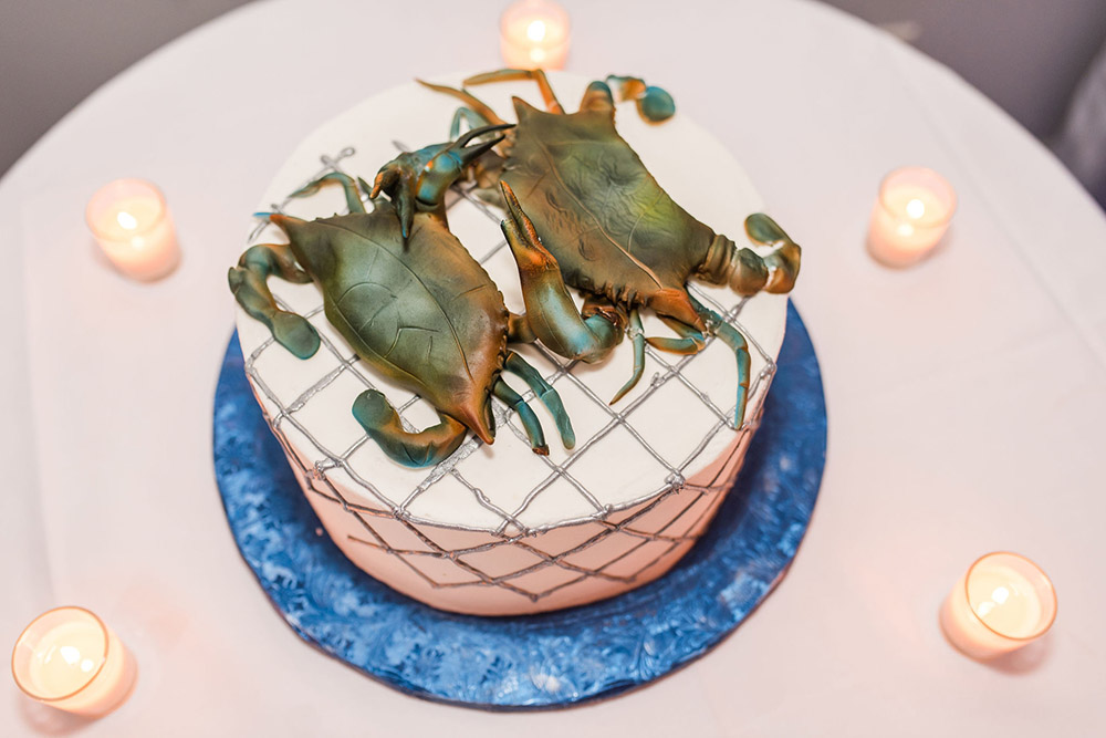 Blue crab groom's cake by Gambino's Bakery