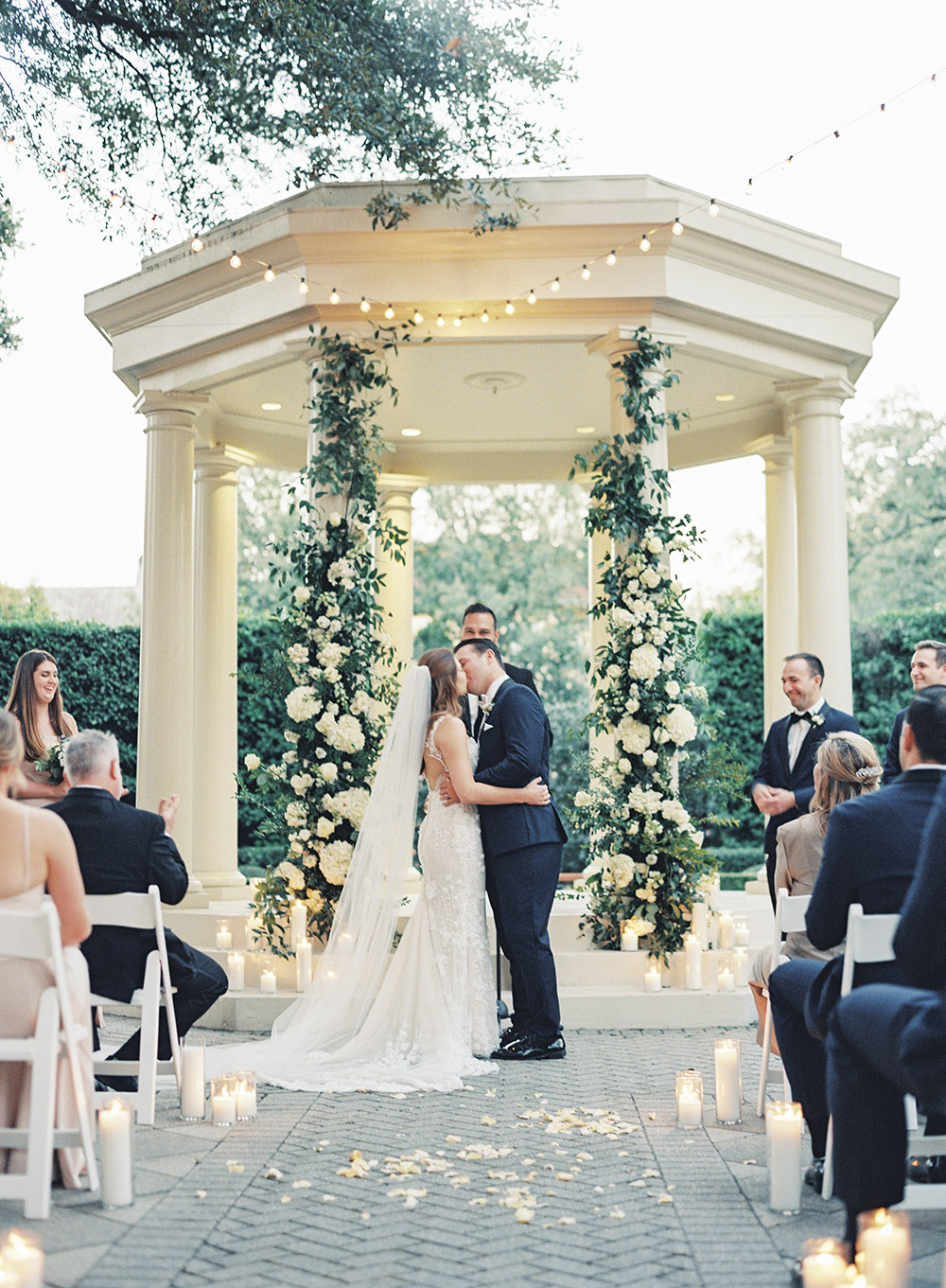 Wedding ceremony at The Elms Mansion in New Orleans by Peony Photography