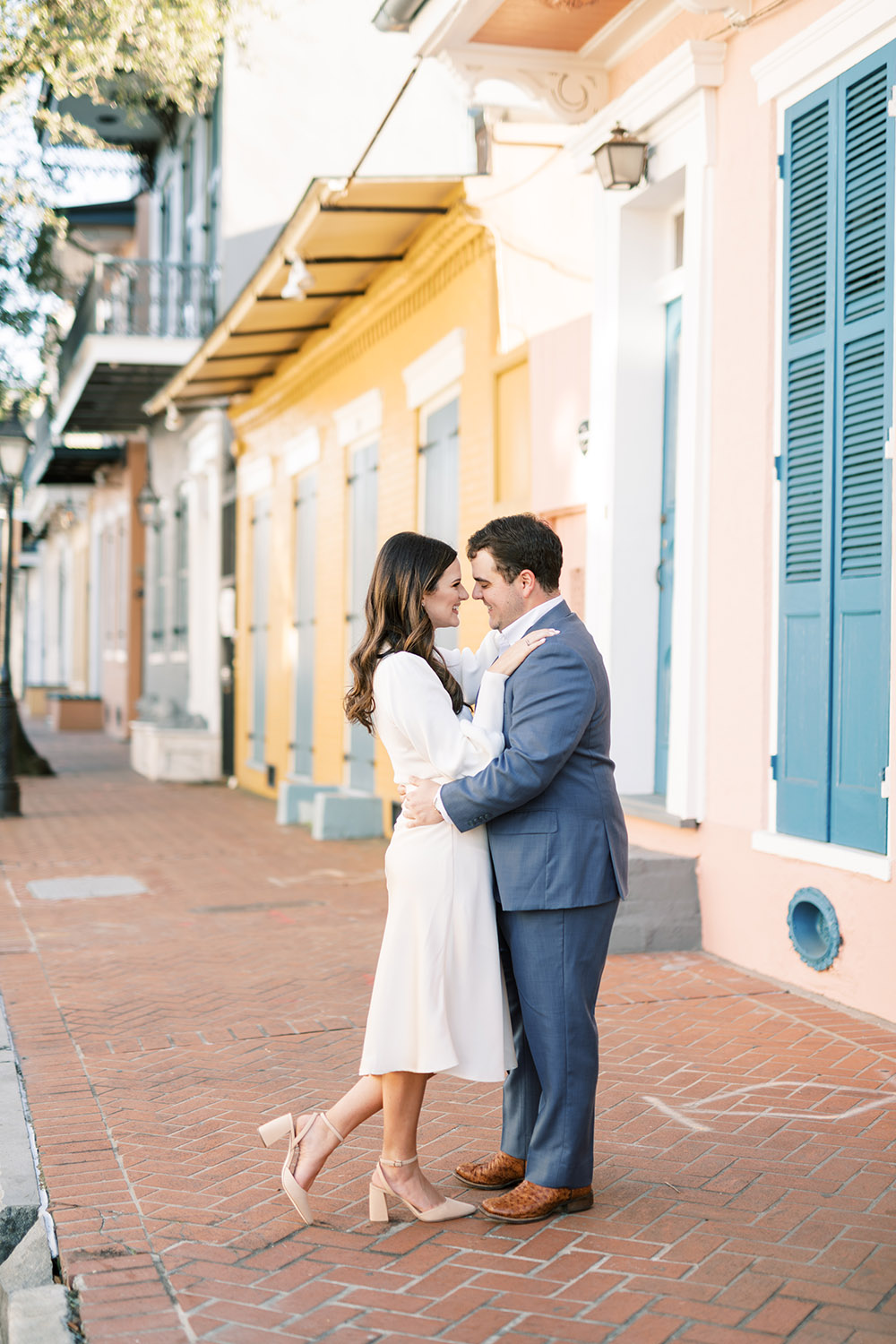 Engagement Photo in New Orleans French Quarter by Peony Photography