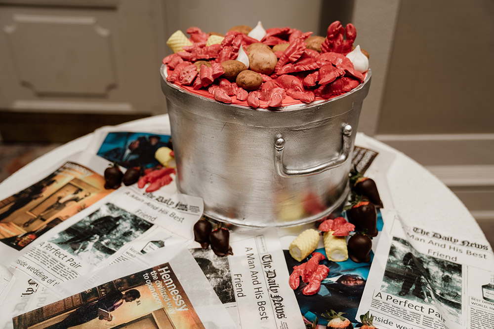 The crawfish boil groom's cake. Photo by Audie Jackson