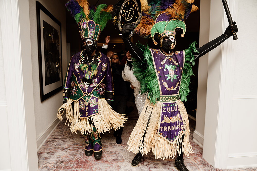 The Zulu Tramps made an appearance at Jerome and Shemia's wedding. Photo by Audie Jackson