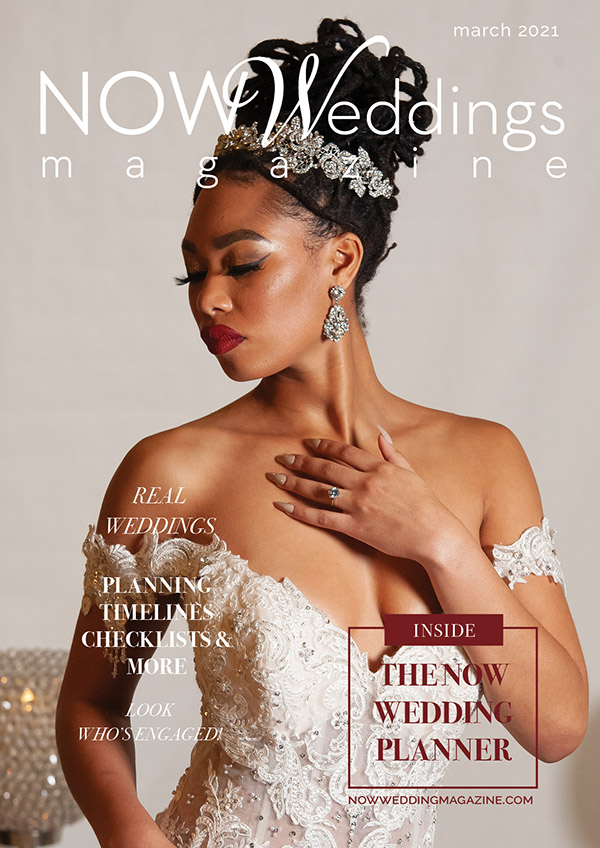 March 2021 Cover of NOW Weddings Magazine