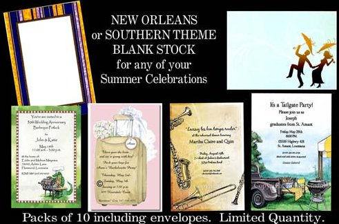 Blank NOLA And Souther Invitation Stock Available At Rudman's Gifts