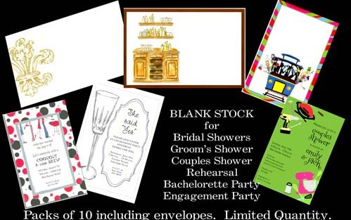 Blank Wedding Invitation Stock Available At Rudman's Gifts