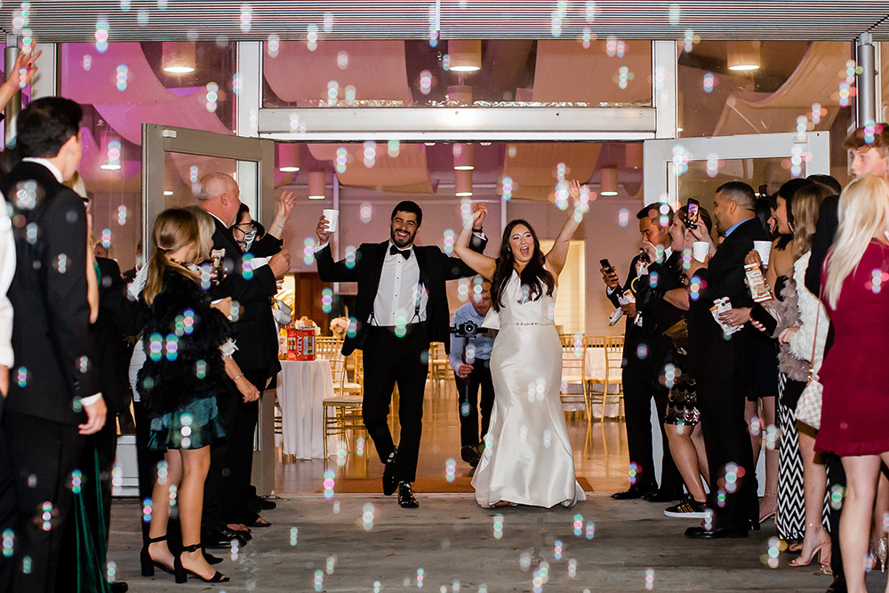Julius And Kaylin Leave Their Wedding With A Fun Bubble Exit.