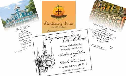 New Orleans Themed Invitation Samples Available At Rudman's Gifts