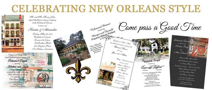 New Orleans Themed Invitations Available At Rudman's Gifts