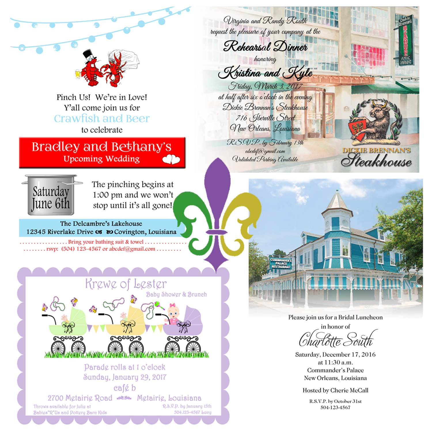 Engagement Party, Bridal Shower, And Bridal Luncheon Invitations By Rudman's Gifts