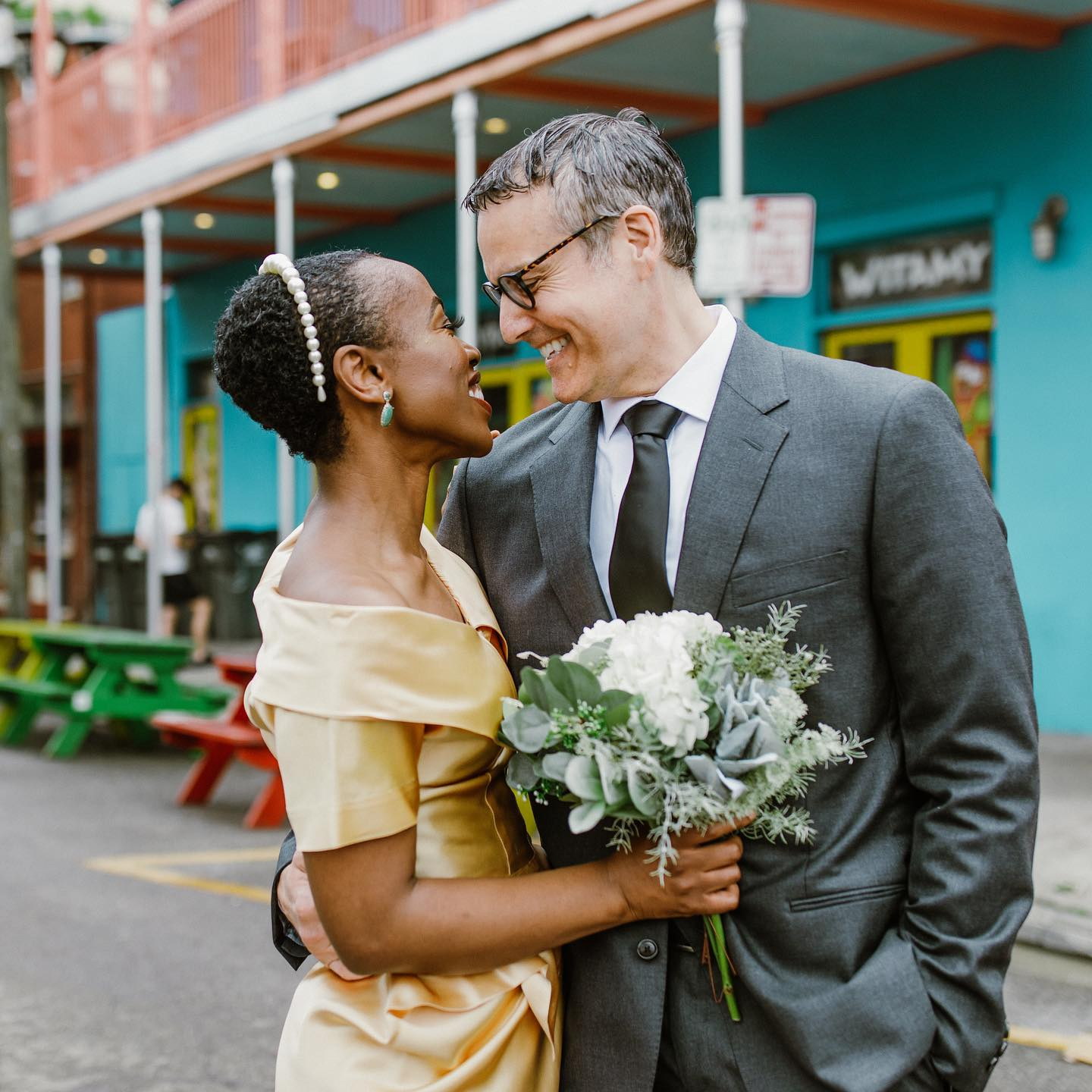 Newlyweds in the French Quarter