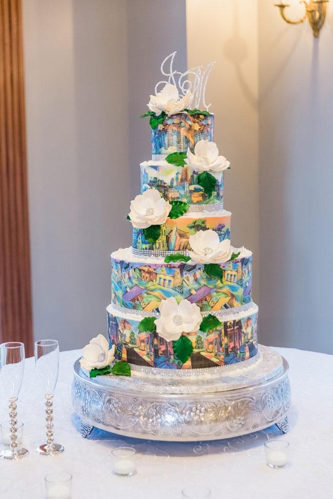 Cake featuring the art of Terrance Osborne