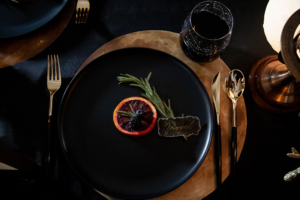 Eclipsed moon table setting