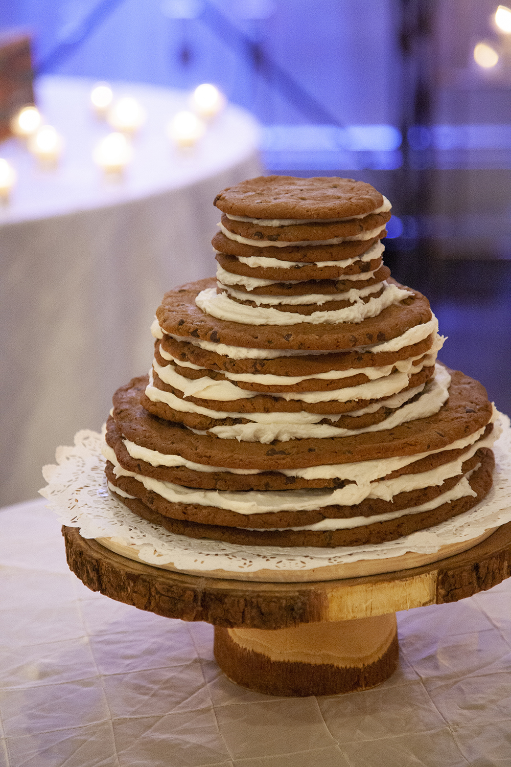 Chocolate Chip Cookie Cake Stack