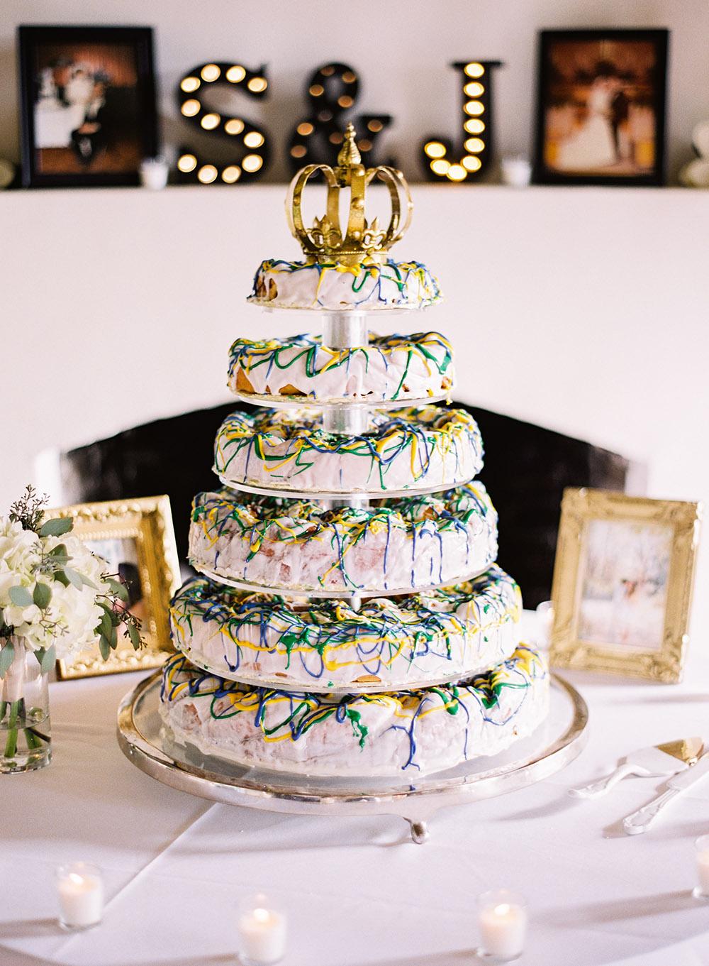 White Wedding King Cake