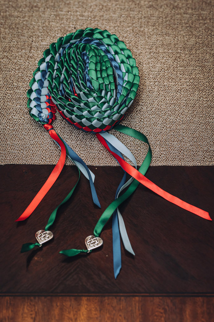 the handfasting ribbon