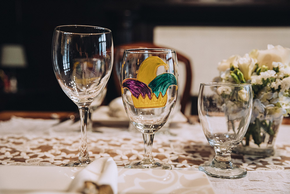 mardi gras wedding details