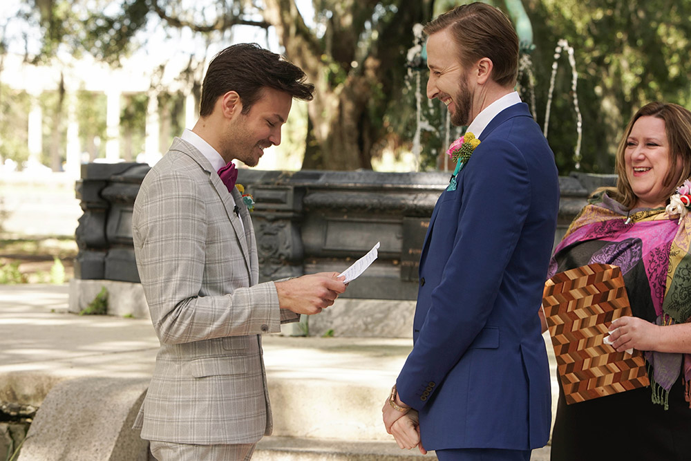 Christopher and Kyle exchange vows