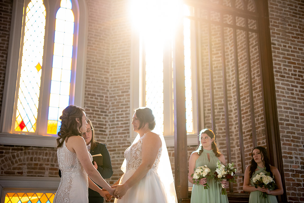 the wedding ceremony at Felicity Church in New Orleans
