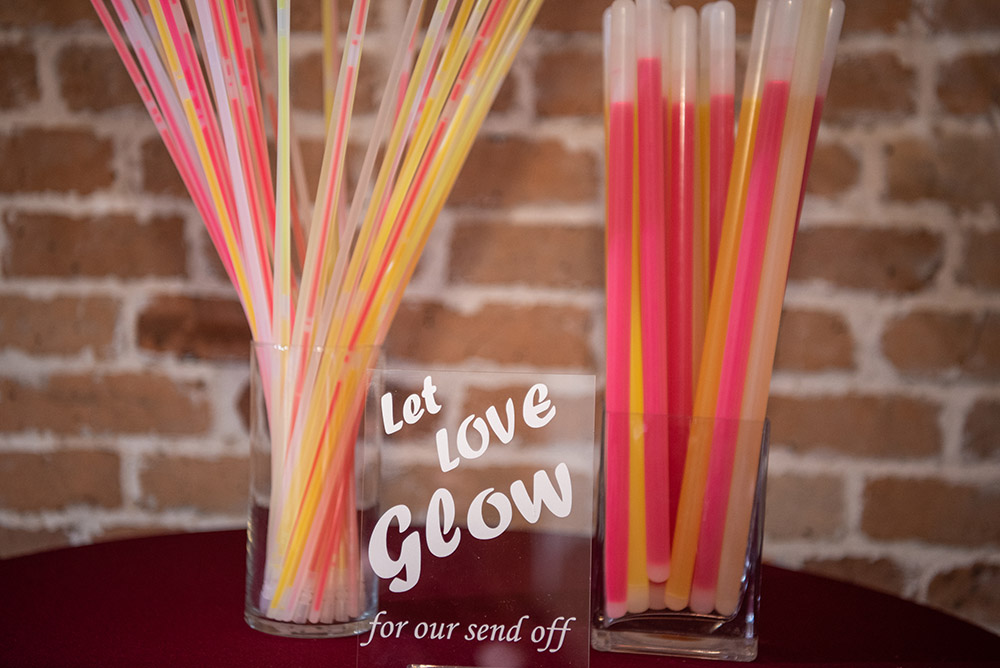 glow sticks for the wedding send off
