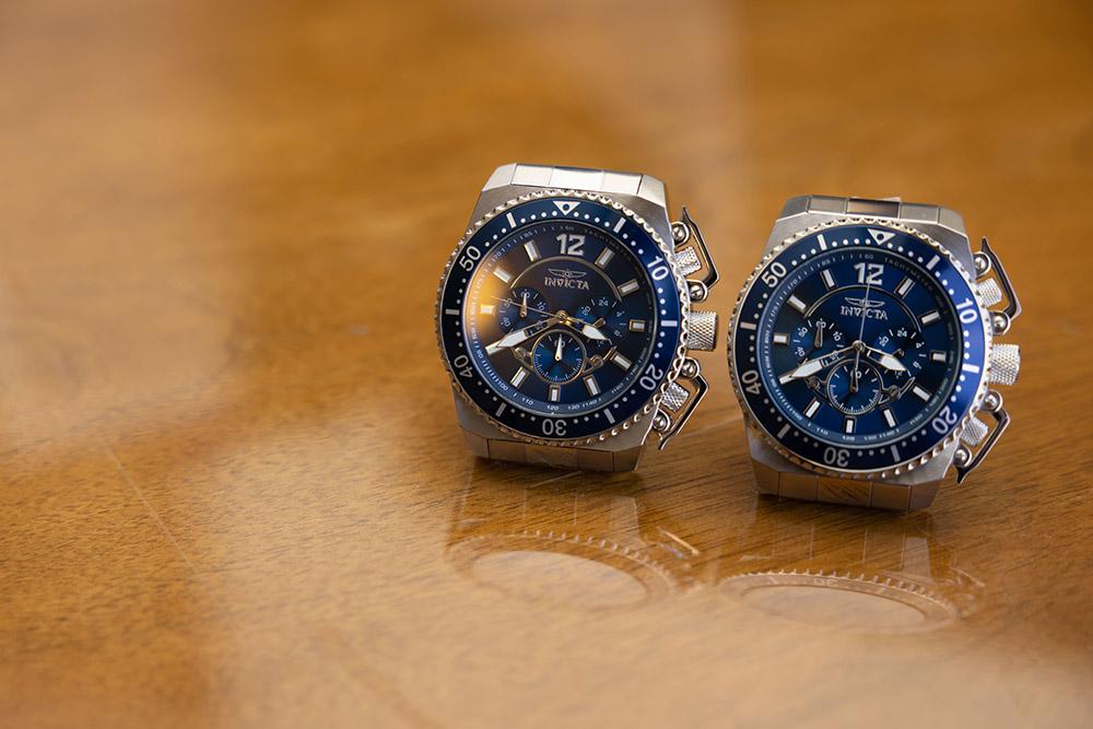 matching blue Invicta watches