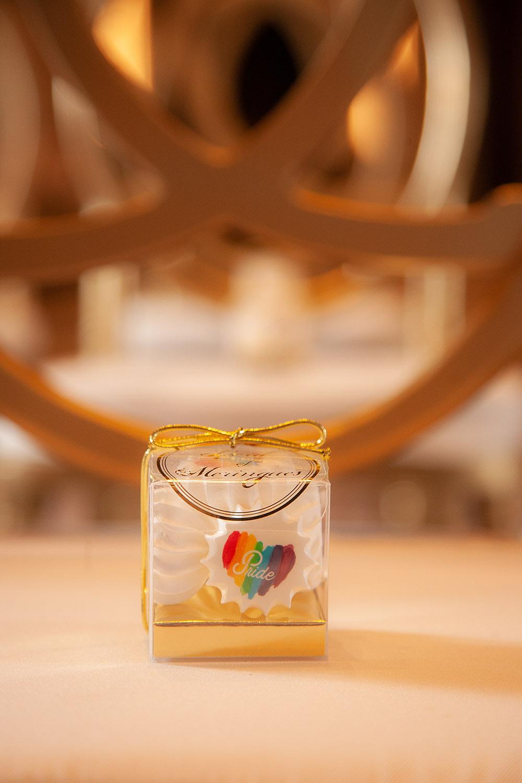 Rainbow Heart Pride Meringue Favor Boxes