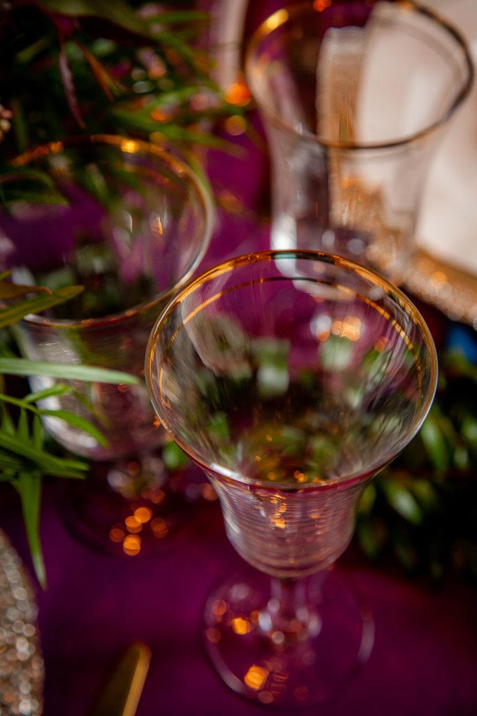 Bella Gold Band Glassware