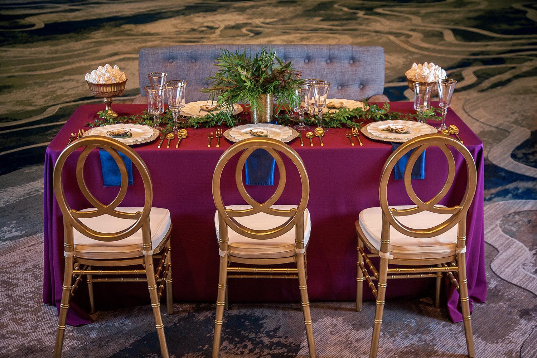 Jewel Tone Wedding Reception Decor