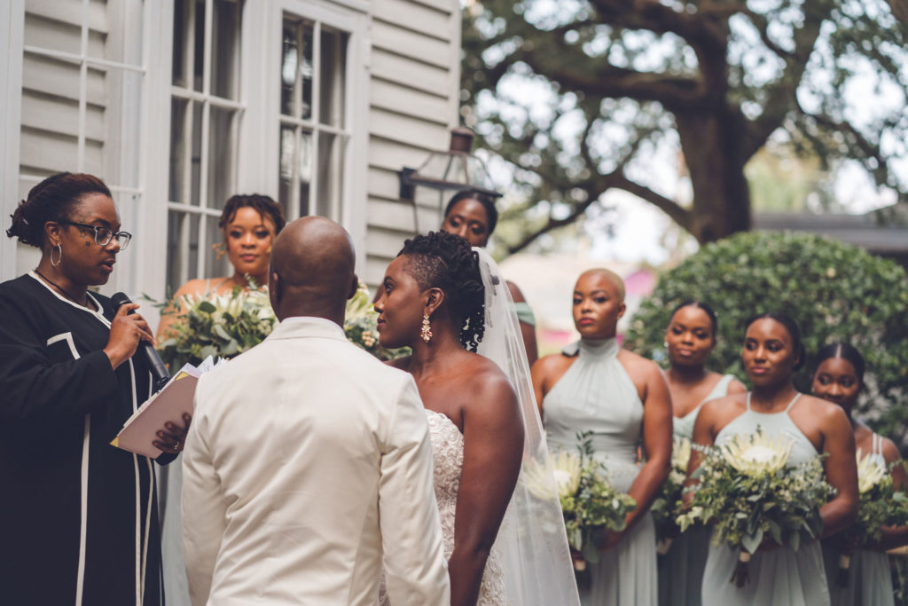 Outdoor Wedding Ceremony New Orleans XXI Facets Photography