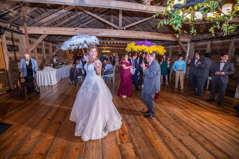 The wedding second line