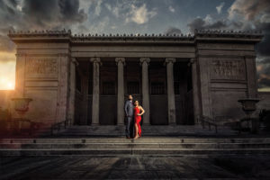 Engagement Portrait at the New Orleans Museum of Art