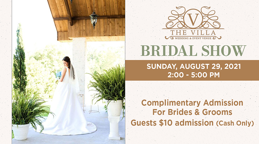 The Villa Bridal Show Carrere Mississippi August 29, 2021