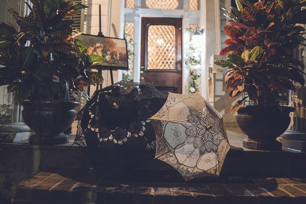 New Orleans wedding second line umbrellas