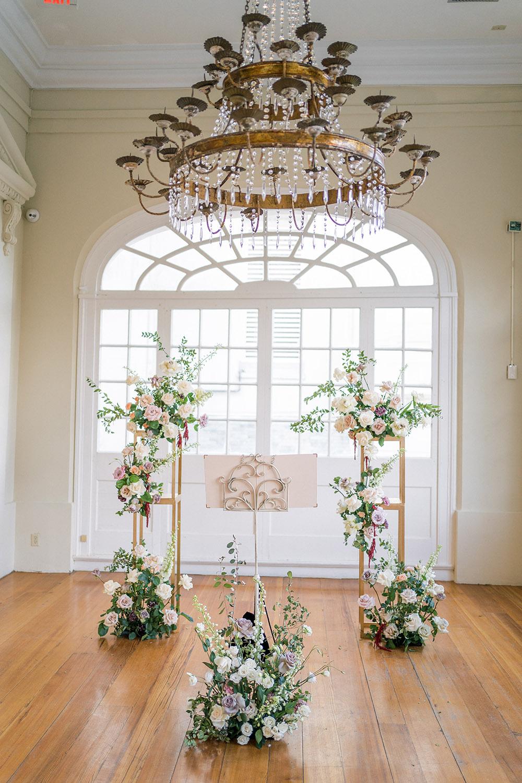 the wedding altar