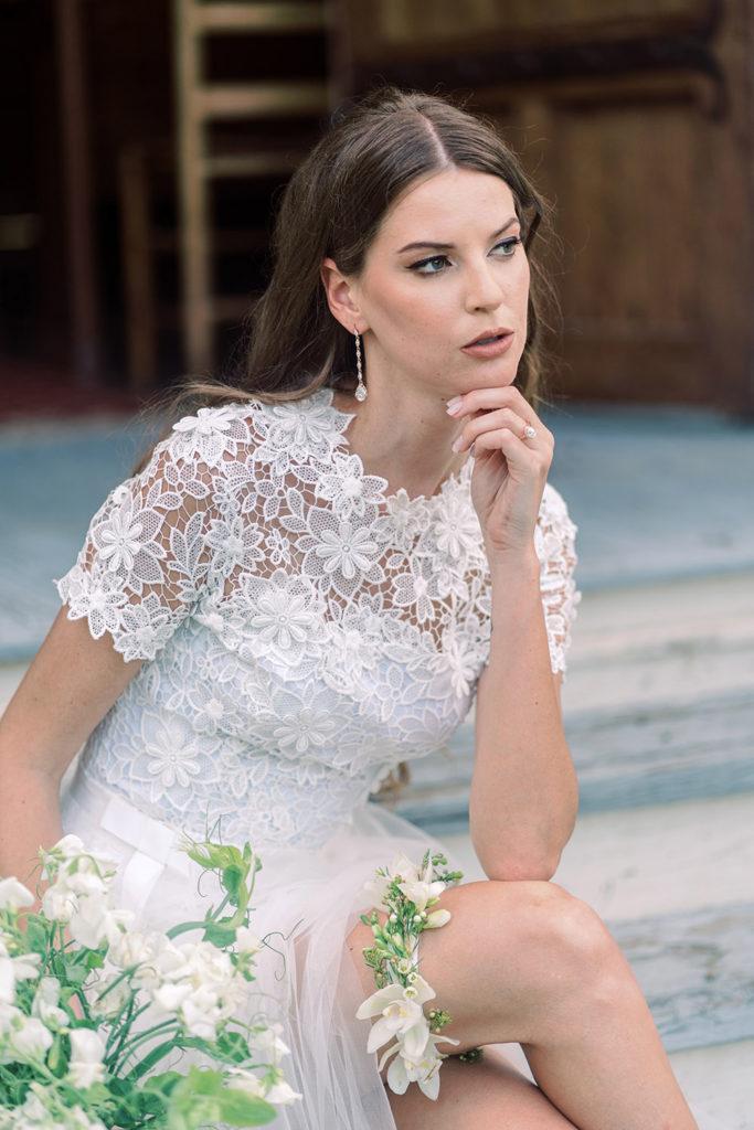 fresh flower wedding garter