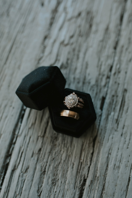 Wedding Rings in Black Velvet Box