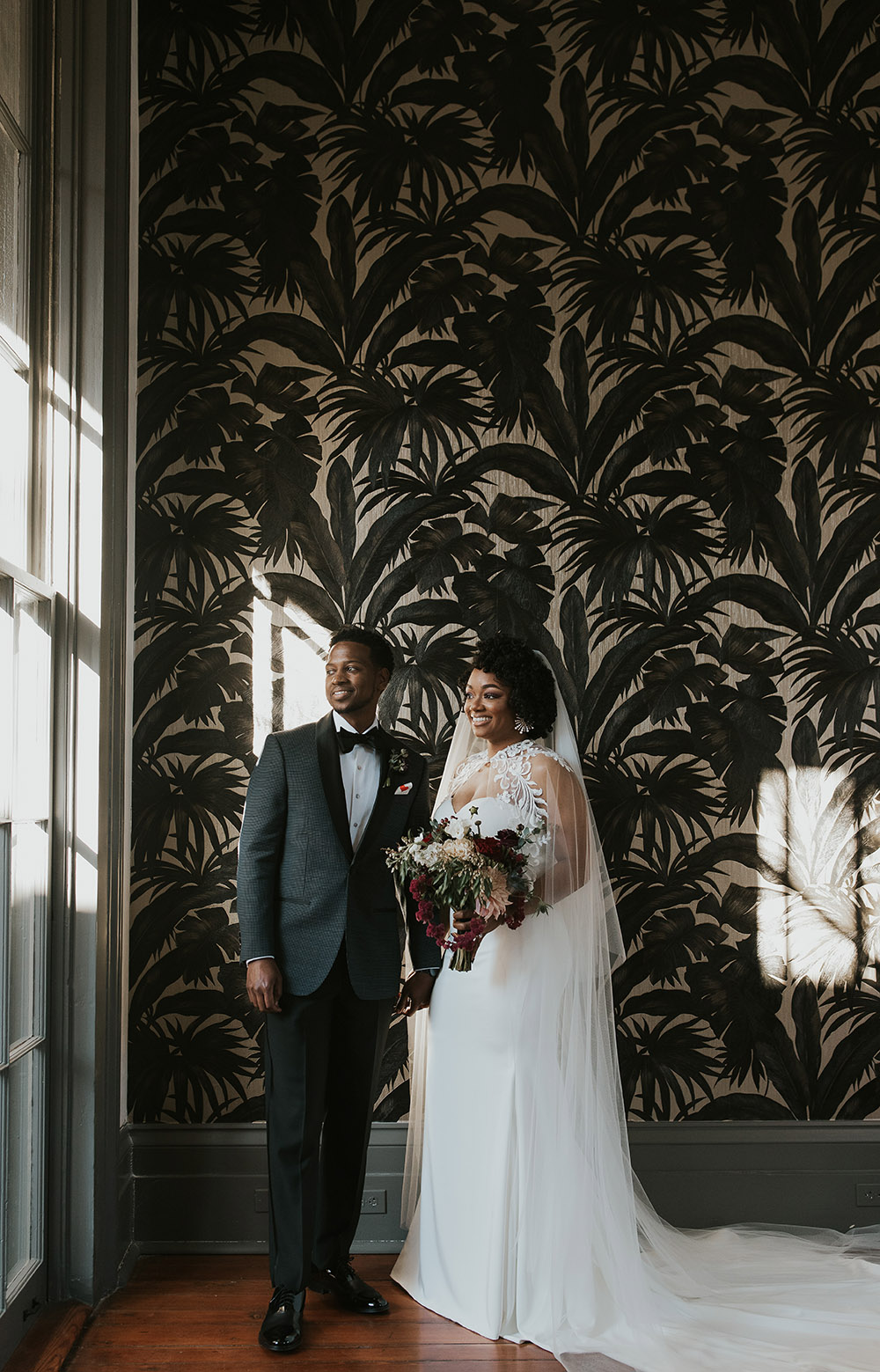 Bride and Groom at Margaret Place New Orleans